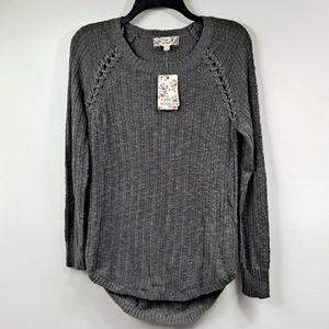 NWT! Pink Republic Grey Sweater M